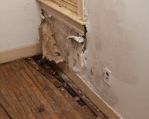 wall water leak