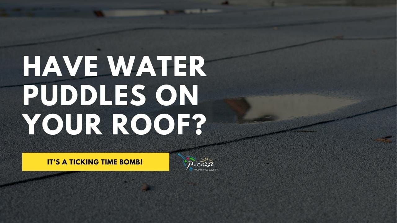 Ponding water on flat roof causing problems